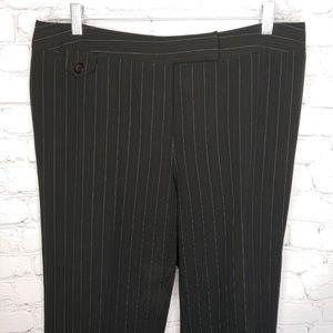 Lane Bryant Black Pinstripe Dress Pants 14 EUC